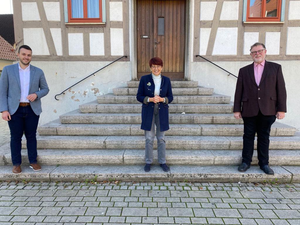Besuchbei Bürgermeister Zahnin Sulzbach