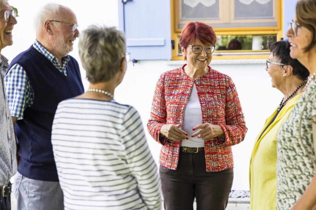 Treffen mit Wählern